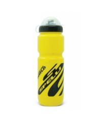 Фляга для велосипеда и спорта Spelli 800 мл. с защитной крышкой (желтая)