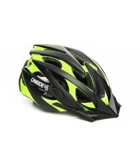 Шлем ONRIDE Cross матовый черный/зеленый с козырьком