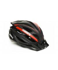 Шлем ONRIDE Grip матовый черный/красный с козырьком