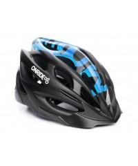 Шлем ONRIDE Mount матовый черный/синий с козырьком