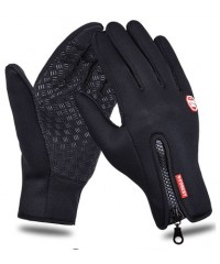 Велосипедные непродуваемые перчатки windstopper черные