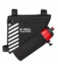 Треугольная влагозащищенная сумка на раму с держателем велосипедной фляги