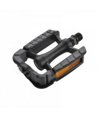 Педали Wellgo C172DU пластиковые черные с антискользящим покрытием