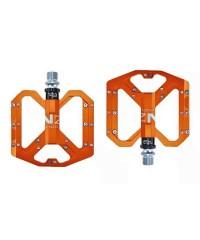 Педали алюминиевые 3 пром. подшипника с шипами ENZO оранжевые