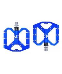 Педали алюминиевые 3 пром. подшипника с шипами ENZO синие