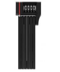 Замок сегментний ABUS BORDO 5700 UGRIP COMBO BLACK SH + кріплення на раму